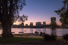Twilight at Lake Merritt, Oakland, California, USA