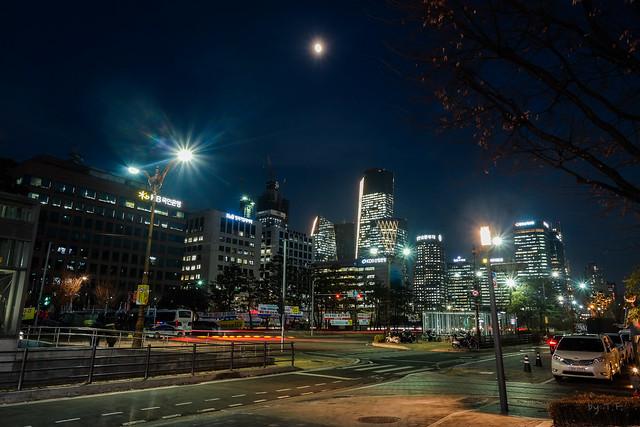 여의도 국회의사당역. 야경 (Night view of National Assembly Station in Yeouido)