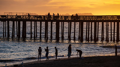 Pier at Seacliff Beach at Sunset