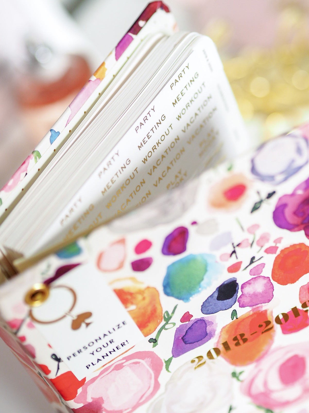 Kate Spade planner floral stickers