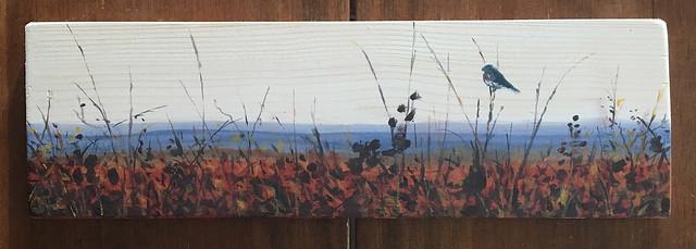 Missouri bluebird - acrylic on wood