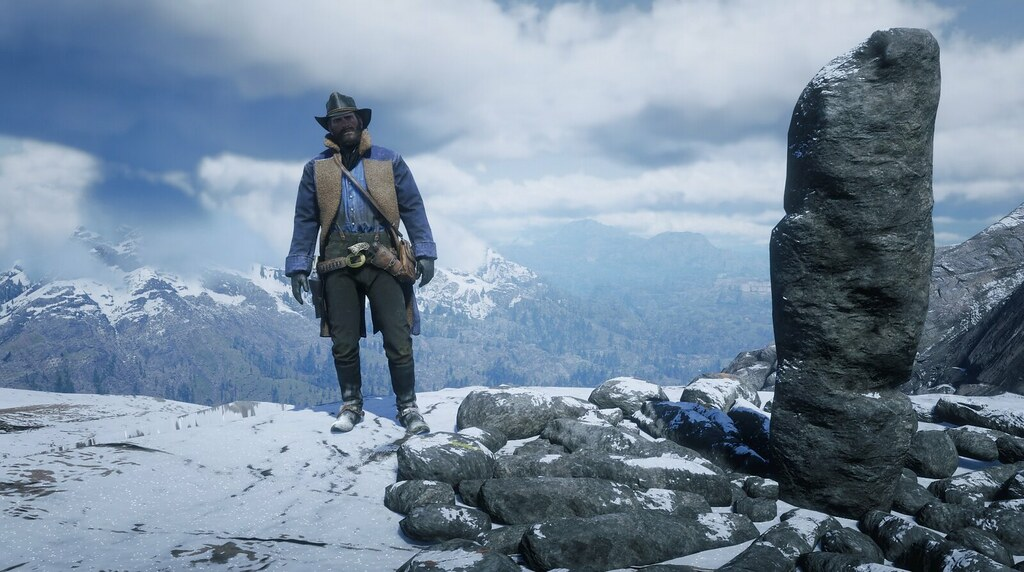 Red Dead Redemption 2 mountain selfie
