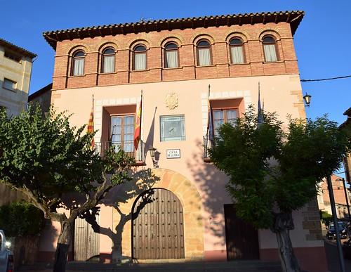 Ayuntamiento de Benabarre (Aragón, España, 31-8-2018)