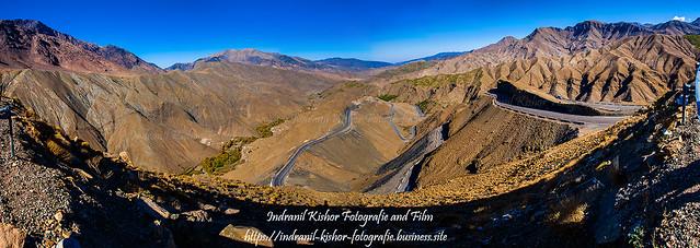 Panoramic view of Tizi-n-Test Pass