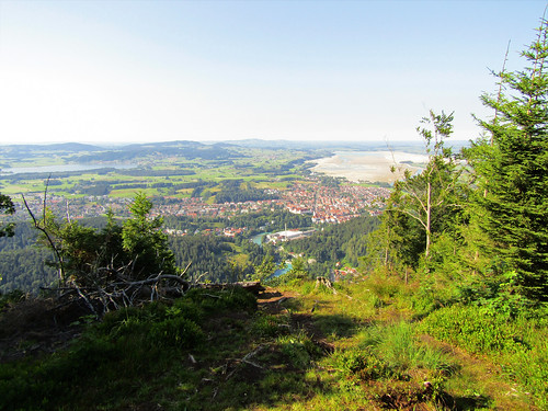 View of Füssen from top of Schwarzenberg in Pinswang