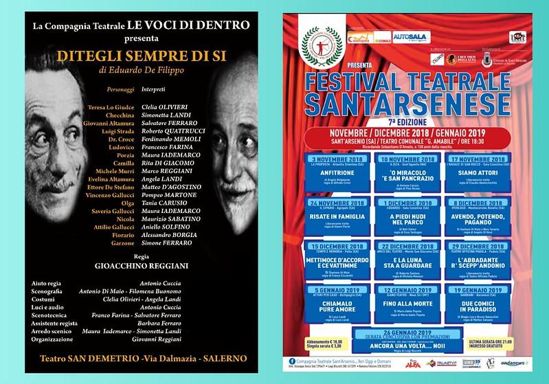 festival teatrale santarsenese le voci di dentro locandina 2019