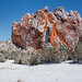 a little snow in the Garden of the Gods