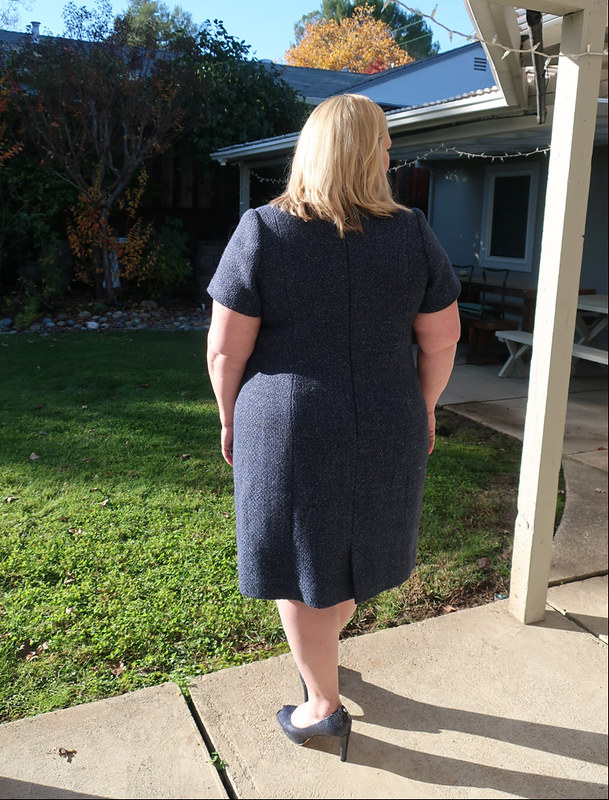 H wool dress back view