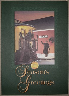 Krause Publications caboose Christmas Card cover
