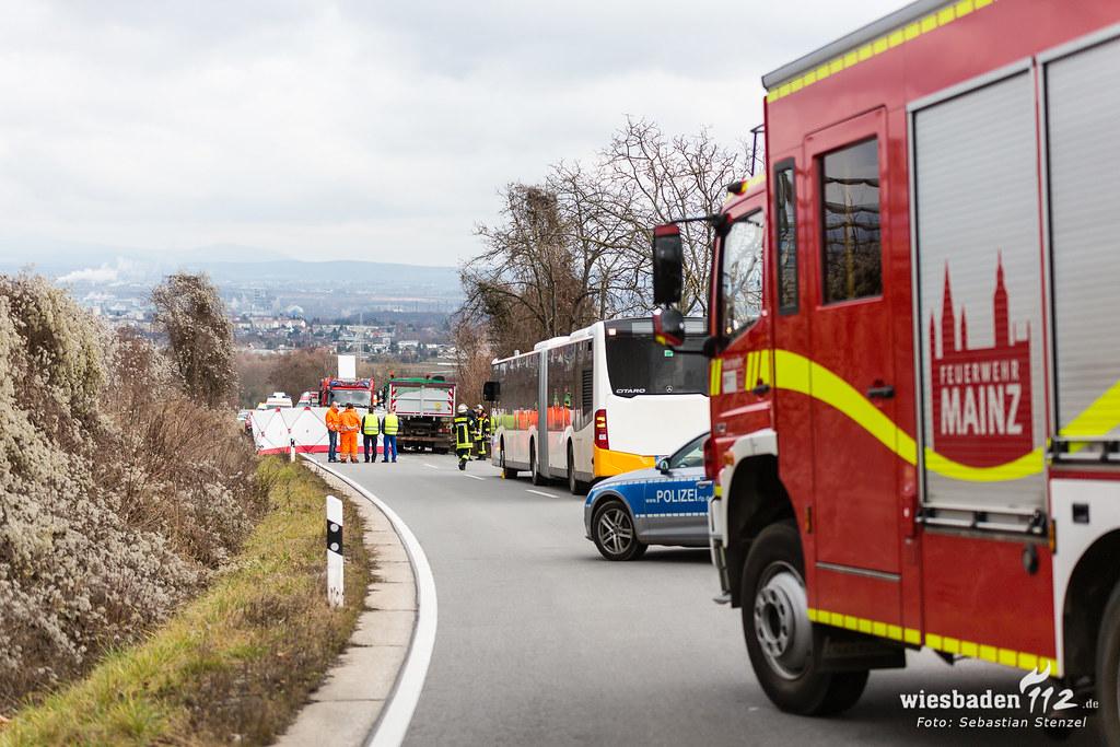 Tödlicher Frontalzusammenstoß L427 Mainz-Drais 10.01.19