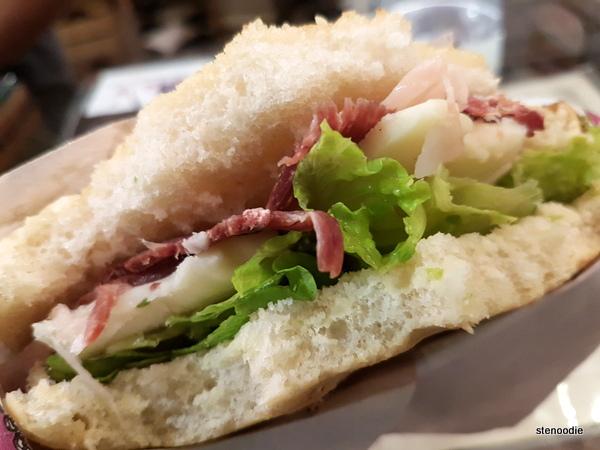 La Prosciutteria Firenze sandwiches