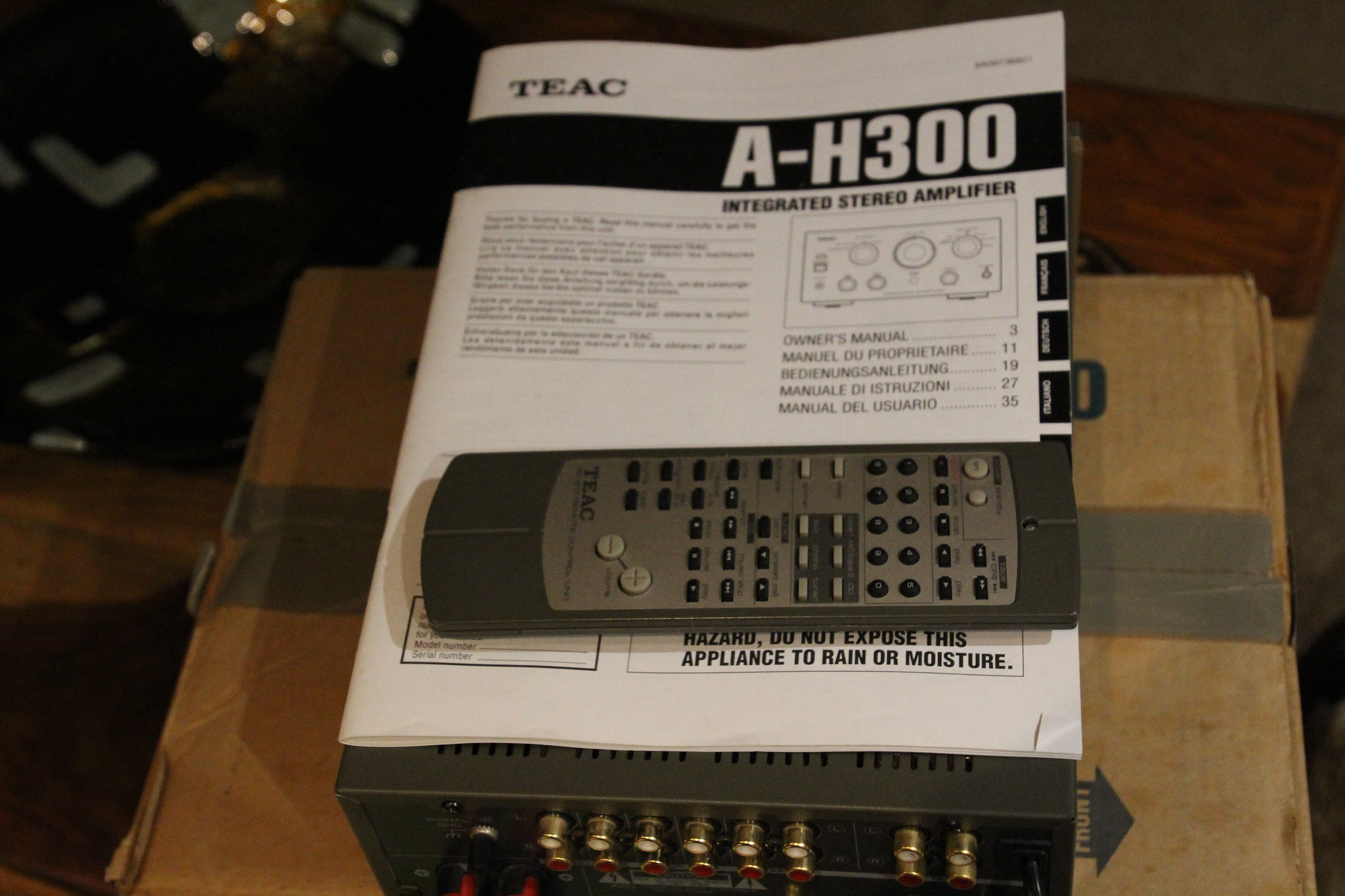 Teac ah 300 manual