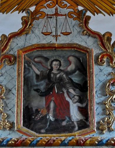 Tuineje (Fuerteventura-Canarias-España). Iglesia de San Miguel Arcángel. Retablo. Ángel de la Guarda