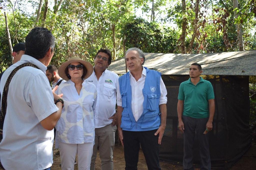 Visita Rosemary Dicarlo, Secretaria General Adjunta DPA al ETCR San José de Oriente, Cesar. Dic. 4/2018