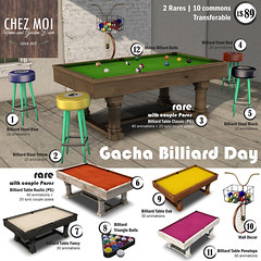 Gacha Billiard Day Key CHEZ MOI