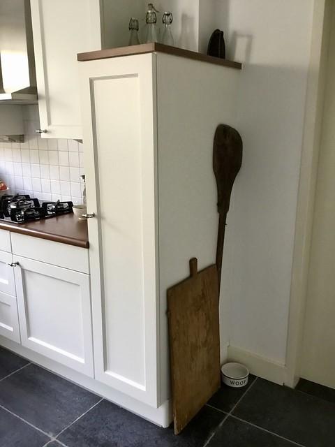 Landelijke keuken houten accessoires