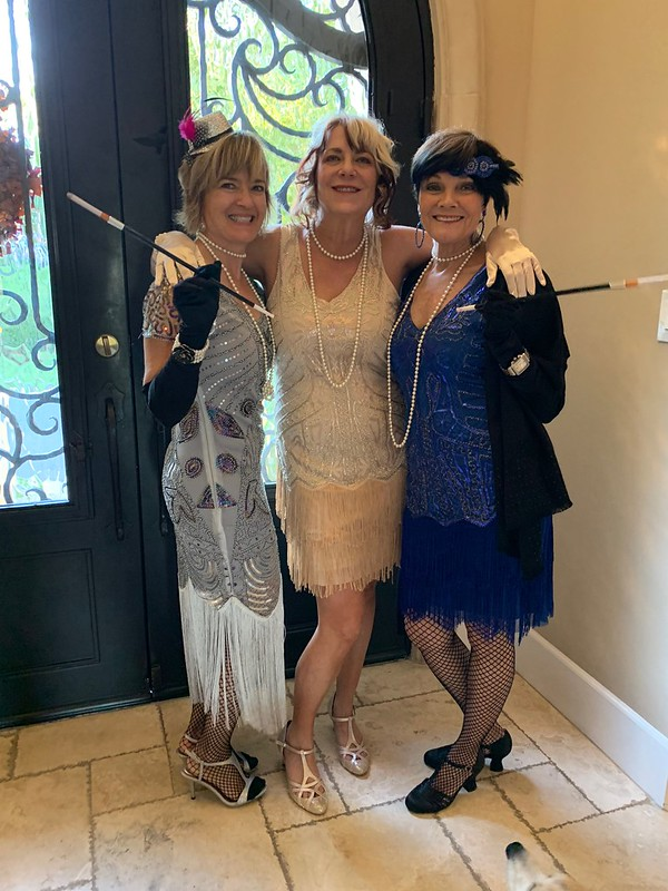 Terra, Sharon and Janie at the Fall Dinner Party