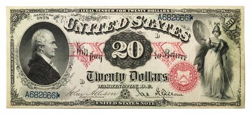1878 $20 Legal Tender note