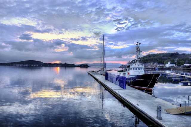 The pier of Oban