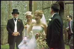 Found Photos - Bride, Groom & rushing Photographer