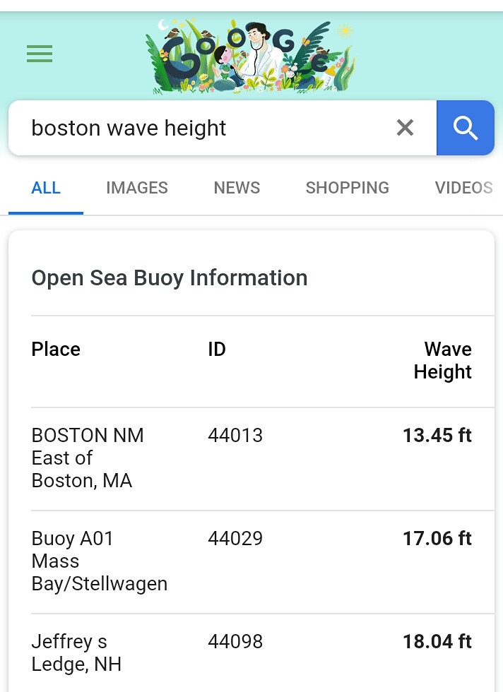 11-27-2018 wave height for Boston