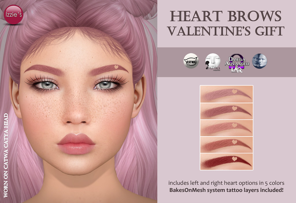 Heart Brows (Valentine's Gift) - TeleportHub.com Live!