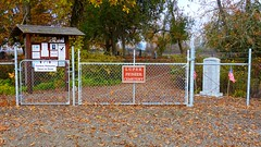 Entrance gate to Luper Pioneer Cemetery