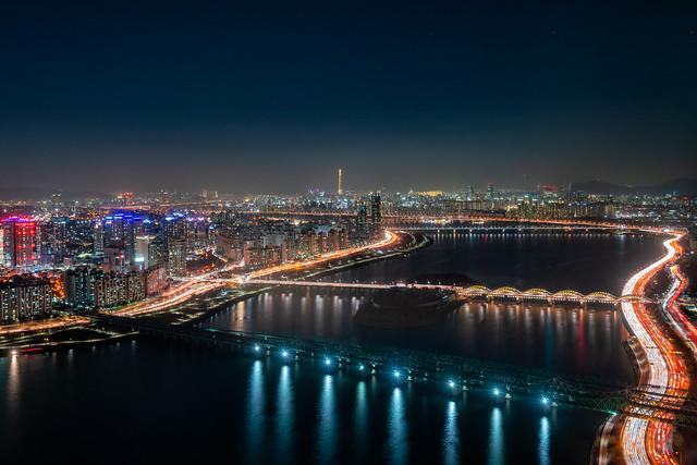 Night view of bridge, Sony ILCE-7RM2, Sony FE 16-35mm F4 ZA OSS
