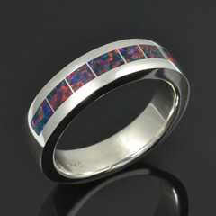Lab Created Opal Ring in Sterling Silver