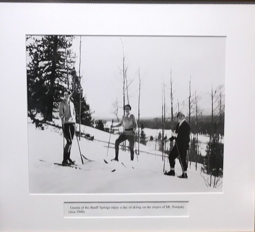 Banff Hotel Museum Image of 1940s skiers. From History Comes Alive in Banff National Park