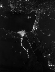 City Lights illuminate the Nile River acquired on October 13th, 2012. Original from NASA. Digitally enhanced by rawpixel.