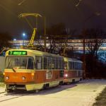 Nočné Vinohrady I. | ČKD Tatra T3G #7841 | Bratislava-Vinohrady