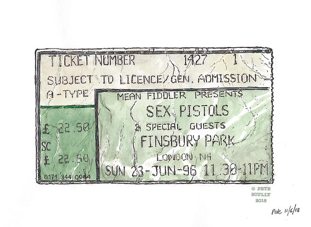 sex pistols 1996 ticket