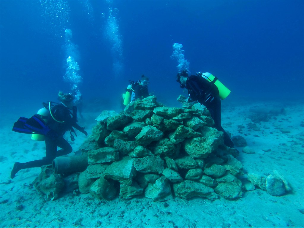 photo of artificial reef building project