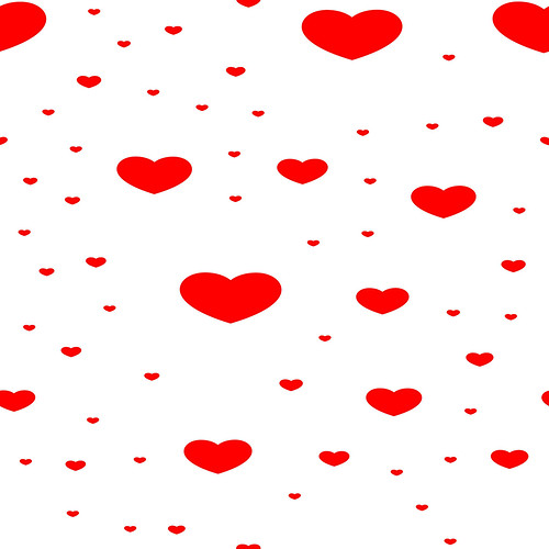 , Seamless templates with hearts