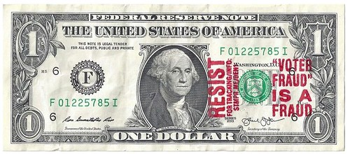 voter-fraud-is-a-fraud stamped dollar