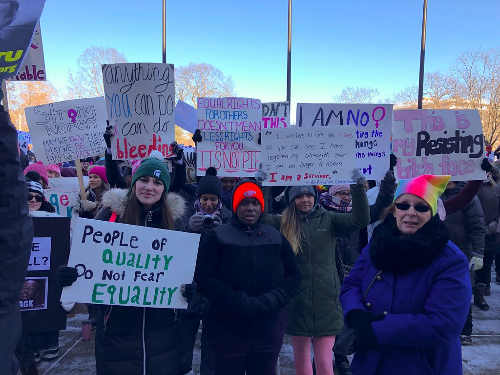 Women March For Equal Rights In East Lansing