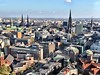 "Views of Hamburg City - View from the Michel ""Old Town"""