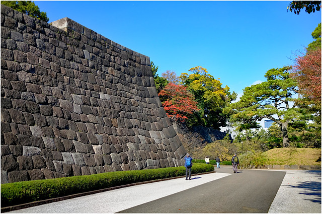 Photo:Ancient walls - Edo Castle-Imperial Palace - Tokyo, Japan By Geoff Whalan