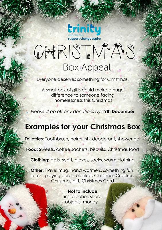 1812 Trinity Xmas Box Appeal