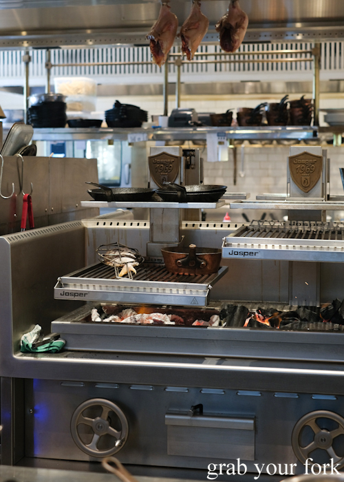 Josper grills in the open kitchen at Bert's in Newport by Merivale