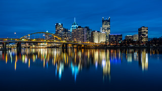 Blue hour in Pittsburgh