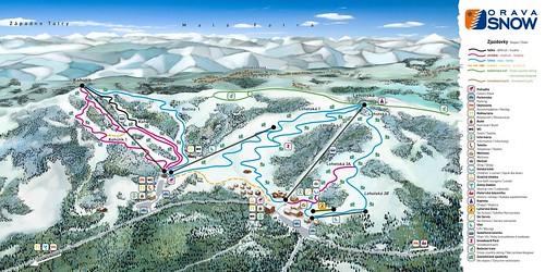 Oravská Lesná - Orava Snow - mapa sjezdovek