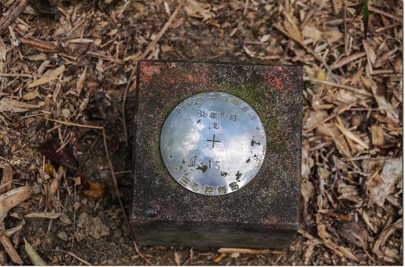 南頂坪林山內政部土地測量局三等控制點(# Q315 Elev. 627 m) 2