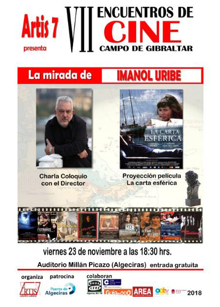 Imanol Uribe en Algeciras. Asociación Artis 7 Campo de Gibraltar