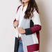 Fashion knit color block cardigan sweater