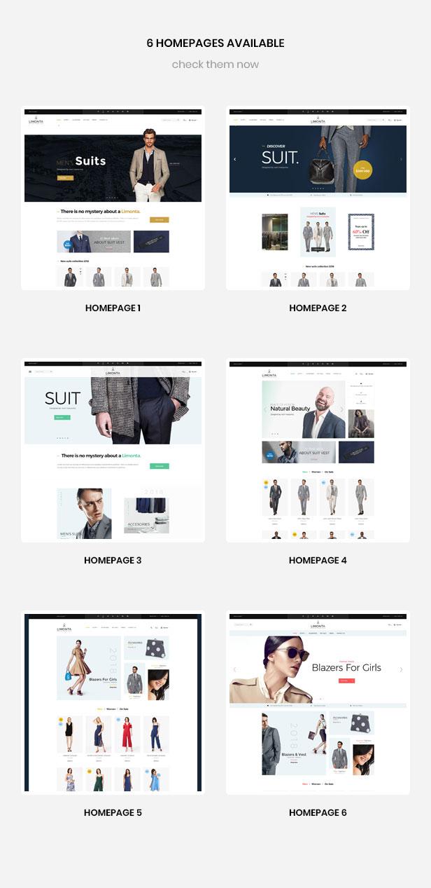 Multipurpose homepages