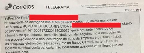 Telegrama - processo 1
