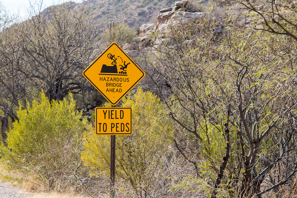 Funny signs in Sabino Canyon
