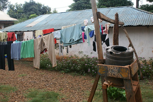 Volunteer clothing on the line at the orphanage in Kenya (2012). Catherine Cottam: #VolunteerAbroadBecause It Will Shape You